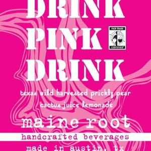 Maine Root Pink Drink label
