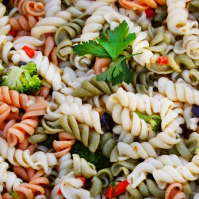 healthy veggie pasta salad
