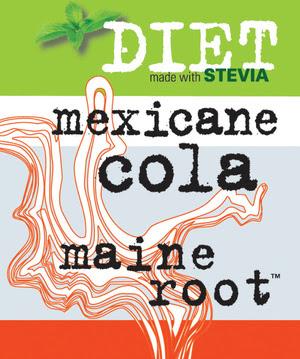 Maine Root Diet Cola label