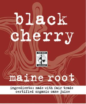 Maine Root Black Cherry label