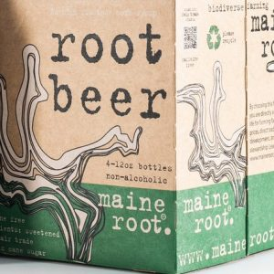 box of Maine Root root beer
